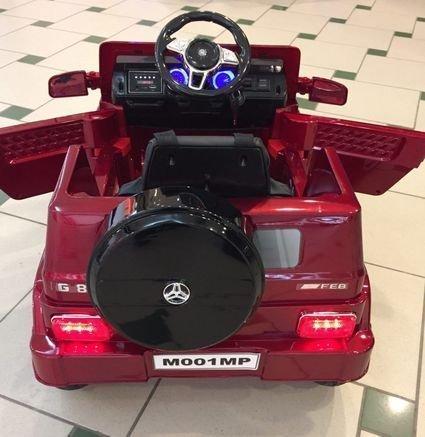 Электромобиль Мерседес Гелик М001МР красный (колеса резина, сиденье кожа, пульт, музыка)