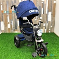 Велосипед CHOPPER TRIKE синий (фара со светом и звуком, трансформер)