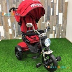 Велосипед CHOPPER TRIKE красный (фара со светом и звуком, вращение на 180 градусов, колеса резина)